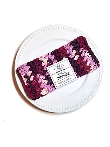 favorite Grape Focaccia List price Crochet Kitchen Dishcloth Cotton Washcloths Dis