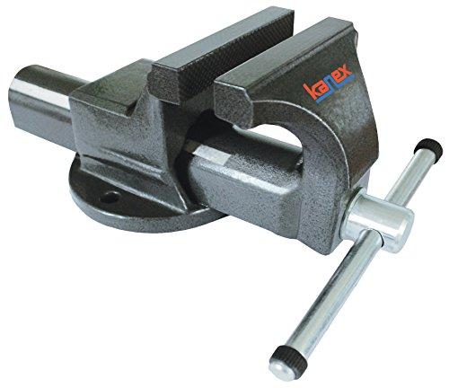 KANCA 60210150125 Tornillo de banco (acero forjado), Negro, 125 mm