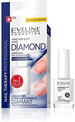 Eveline Cosmetics Professionelle Nägel-Therapie DIAMANT | 12 ML | Härtender Conditioner mit Diamanten | Titanformel | Extreme Verstärkung