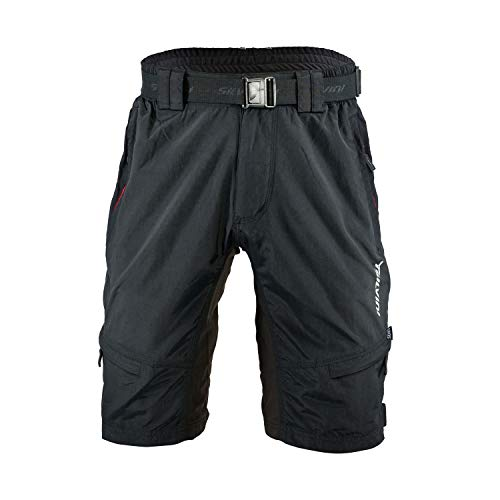 SILVINI Rango Pantaloni da Mountain Bike, da Uomo, MTB Hose (XL, Nero/Rosso)