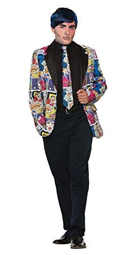 Forum Novelties X76714 Pop-Art-Krawatte, Herren, mehrfarbig, Einheitsgröße