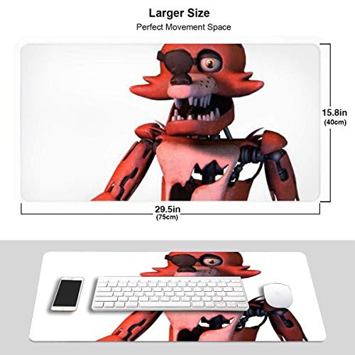 Buckethead Bob Five Nights at Freddy's Amino Desk Mousepad - 15.8x29.5in (3mm Thick)- XL Protective Keyboard Desk Mouse Mat for Computer/Laptop