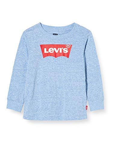 Levi's Kids LVB L/S BATWING TEE 8646 Camiseta Regatta Snow Yarn para Bebé-Niños