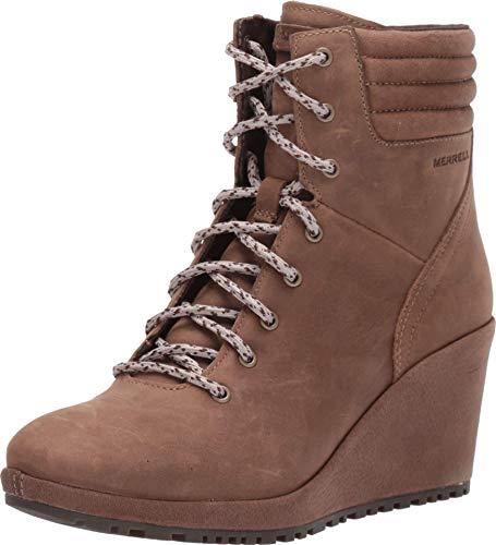 Merrell Tremblant Wedge Boot Waterproof Women 8.5 Stone