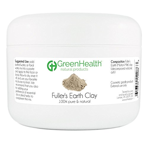 Fuller's Earth Clay Powder 6 oz - 100% Pure & Natural by GreenHealth