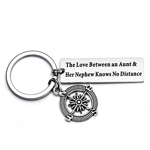 Aunt Gifts from Nephew The Love Between an Aunt and Nephew Knows No Distance Aunt Keychain Keychain Gifts for Aunties (Style 01)