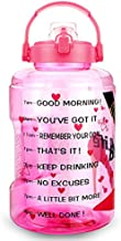 BuildLife 1 Gallon Water Bottle - 128 OZ Wide Mouth,Motivational Time Marker & Flip Lid,BPA Free Reusable Leak-Proof Water Jug for Sports Gym Fitness Outdoor (High Heels, 128 oz)