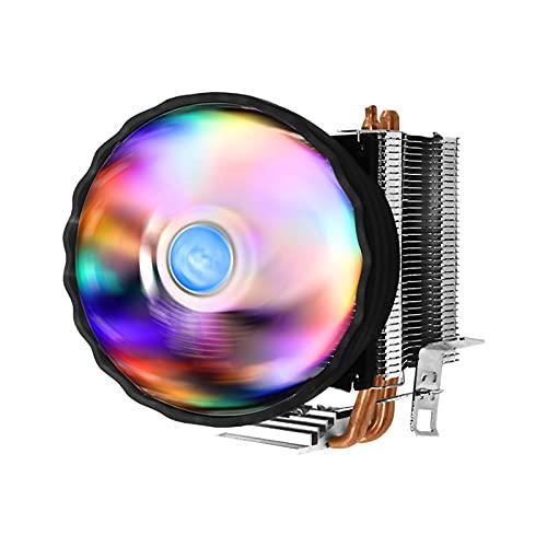 TISHITA Disipador de calor para CPU con conector RGB de 4 pines para Intel LGA 775 1156, disipación rápida del calor