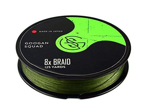 Catch Co Googan Squad 8X Braided (Braid) Fishing Line Green, 125yd (15lb)