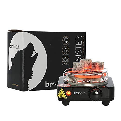 Brohood Firetwister Kohleanzünder für Shisha Kohle 500W | Elektrischer Premium Kohleanzünder + Kohlegitter
