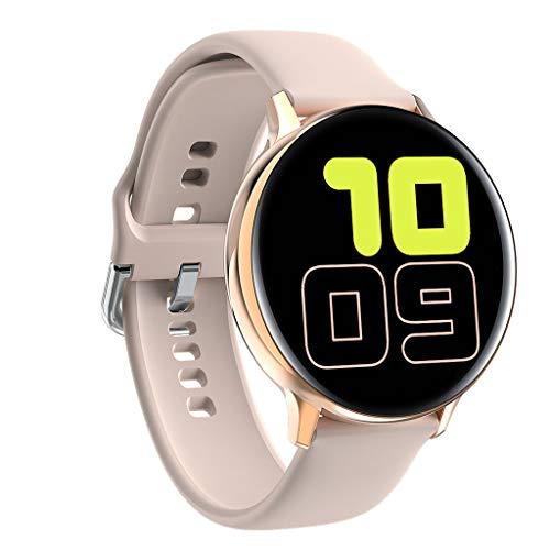 APCHY Reloj Inteligente smartwatch,rastreadores de Actividad de Pantalla táctil de círculo Completo de 1.4 Pulgadas, cronómetro de frecuencia cardíaca, Contador de Pasos, Empuje de Mensaje,C