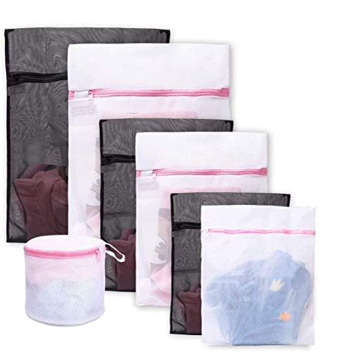 Bolsas para la colada ,Set de 7 Malla Bolsas de Lavandería /bolsas de lavadora Para Lavadora/Secadora/Colada/Lavar La Ropa Interior, Sostén, Prendas Delicadas, Ropa de Bebé, Organizador, Viajes