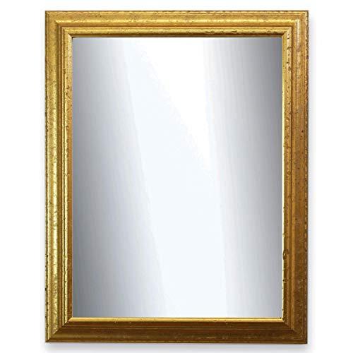 Online Galerie Bingold Spiegel Wandspiegel Badspiegel Flurspiegel Garderobenspiegel - Über 200 Größen - Genua Gold 4,3 - Außenmaß des Spiegels 20 x 30 - Wunschmaße auf Anfrage - Antik, Barock