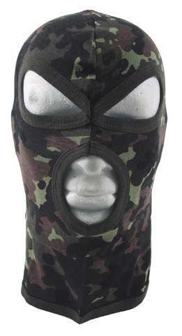 Diverse MFH 3-Loch Balaclava 10901 Dünn Baumwolle Sturmhaube Maske Skimaske Sturmmaske (Flecktarn)