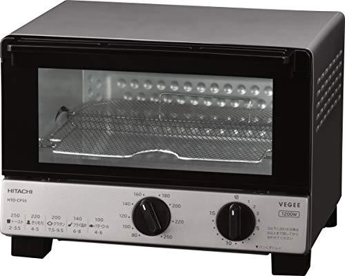 日立 オーブントースター 1,200W 角型パン4枚焼き 無段階温度調節機能 HTO-CF55 H メタリックグレー
