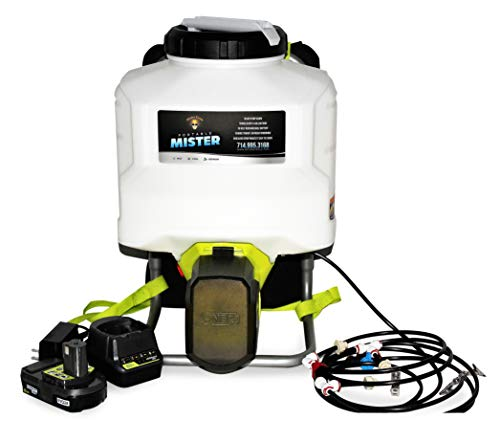 portable misting systems Mister Coolz 18 Volt 4 Gallon Outdoor Mister, Portable Mister, Cordless Mister, Battery Powered Rechargeable Mister, Water Mister, Outdoor Misting System, Cooling for Outdoor Events
