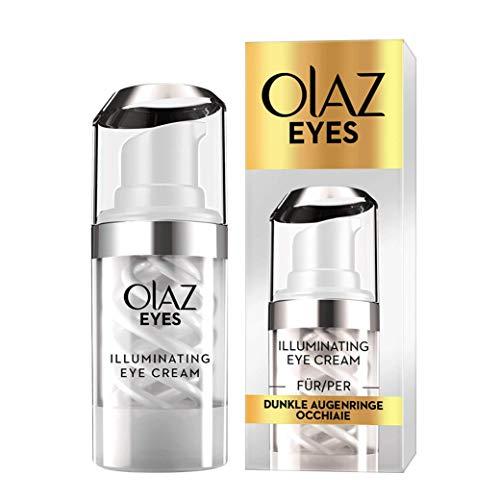 Olaz Eyes Illuminating Crema Illuminante Contorno Occhi, riduce istantaneamente le Occhiaie, con Niacinamide e Collagene - 15 ml