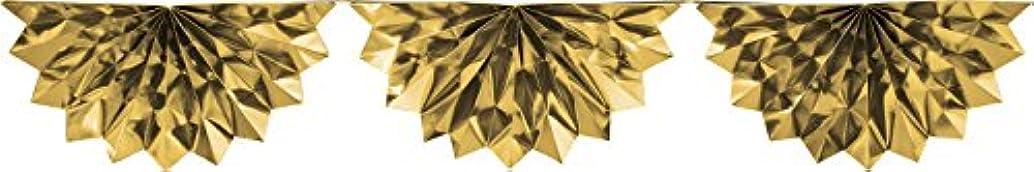 Creative Converting Foil Bunting Garland, 6.5', Gold