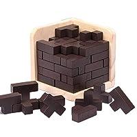 Sefod 木製テトリスパズル 脳トレ 子供おもちゃ 3D 立体パズル 知恵の輪 知育玩具 脳活 指先 刺激 木のおもちゃ 知的玩具 子ども お祝い プレゼントに 6歳以上