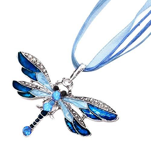 Halskette Anhänger Stil Diamant Pullover Kette Juwelen Geburtstagsgeschenk (Blau)