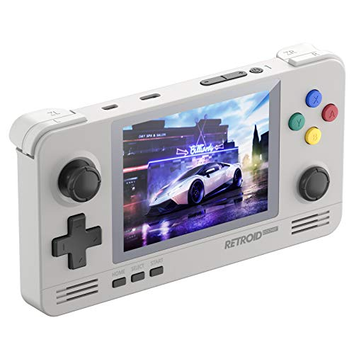 Retroid Pocket 2 Android Handheld Game Console, Dual Boot for Android and retro game console Multiple Emulators Console Handheld 3.5 Inch Display 4000mAh Battery Retro Gaming System for Kids (16 Bit)