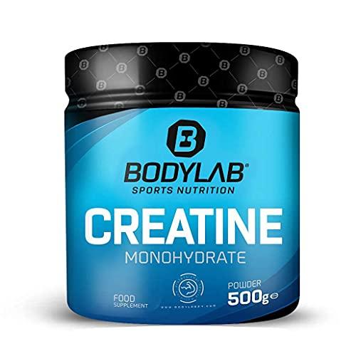 Bodylab24 Creatine Powder 500g, reines Creatin Monohydrat Pulver, Hochdosiertes Kreatin für mehr Energie, Kraft und Muskelaufbau, Produkt der Kölner Liste, Engagement für sauberen Sport
