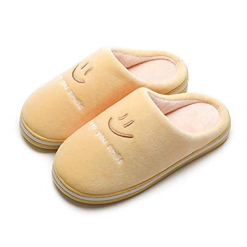 B/H Antideslizante Interior Zapatillas,Zapatillas de Invierno Grandes y cálidas de algodón, Zapatillas de Plataforma para el hogar-V_35-36,Zapatos Antideslizante Pantuflas