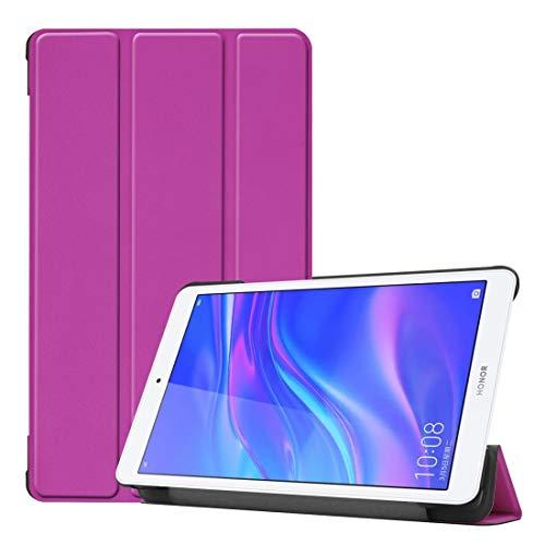 YEYOUCAI - Funda de piel sintética con tapa horizontal para Huawei Honor Tab 5 8.0, con soporte plegable en tres
