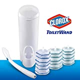 Clorox ToiletWand Disposable Toilet Cleaning System - ToiletWand, Storage Caddy and 16 Disinfecting ToiletWand Refill Heads