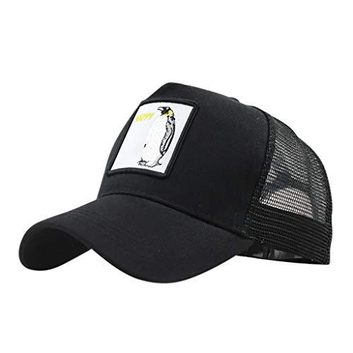hositor Hats for Men, Unisex Outdoor Cotton Animal Embroidered Baseball Caps Adjustable Black
