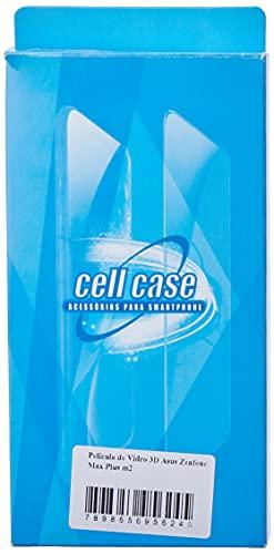 Pelicula de Vidro 3D Asus Zenfone Max Plus m2, Cell Case, Película de Vidro Protetora de Tela para Celular, Preto