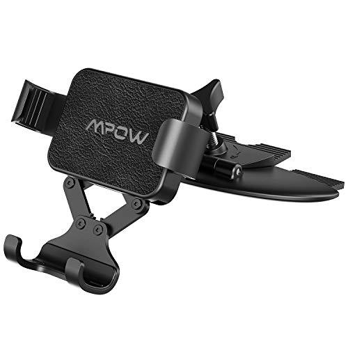 Mpow Schwerkraft Handyhalterung Auto CD-Slot KFZ Handyhalter Gravity Autohandyhalter,Einhandbedienung KFZ Smartphone Halterung mit Lock & Auto-Release-Funktion für iPhone11/XS,Galaxy10,P20, HTC,usw