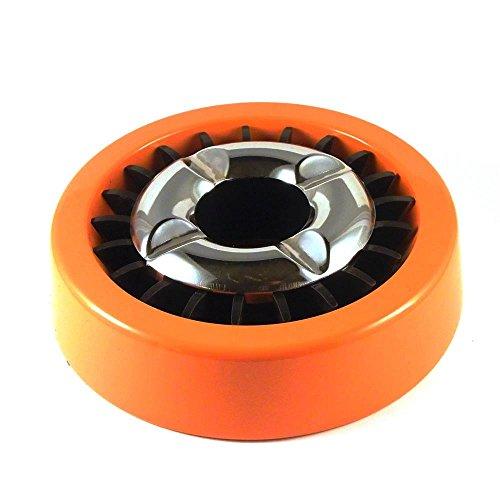Starlet24® Gluttöter Aschenbecher für draußen Windaschenbecher Ascher stabil rund flach - ORANGE