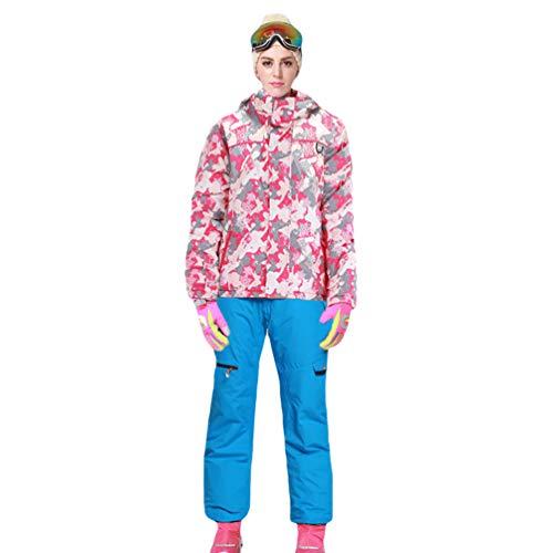 Lvguang Chaqueta de Esquí de Montaña Impermeable Chaqueta de Viaje & Pantalones de Esquí para...