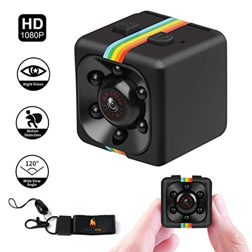 SQ11 Mini Spy Camera Secret Camera 1080P Spy Camera with IR Night Vision Motion Detection Small Surveillance Camera for Home