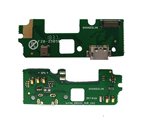 Shinzo USB Charging Port Board Jack Doct Connector with Microphone Compatible for Micromax Bharat 5-(Green)