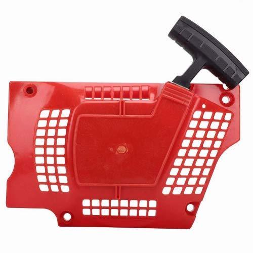 Fdit Motosierra roja Arrancador de tracción Cortadora de césped Arrancador de Arranque Reemplazo Apto para Husqvarna HUS340/345/350/353 Accesorios de Motosierra
