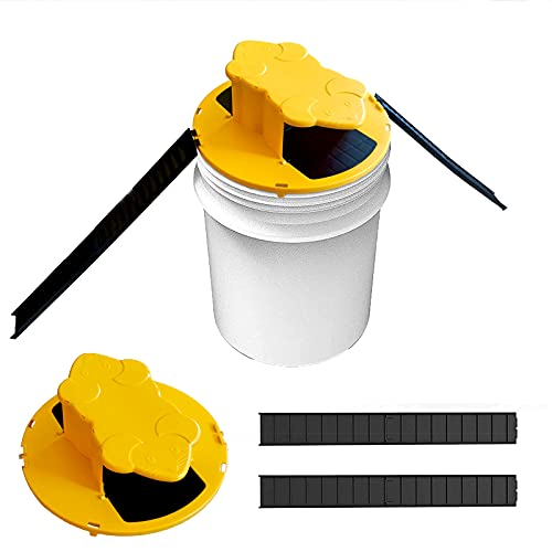 Mouse Trap,Mouse Trap Bucket,Flip Slide Bucket Lid Mouse| |Trap Door Style| |Auto Reset| |Indoor Outdoor|5 Gallon Bucket Compatible