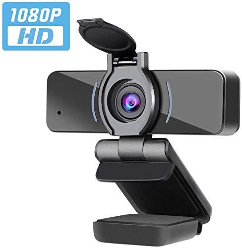 ZILNK USB Kamera 1080P, Webcam mit Mikrofon, PC Desktop Laptop Voll HD Webkamera für Videoanrufe, Studieren, Konferenzen, Aufzeichnen, Spielen mit Drehbarem Clip, USB 2.0