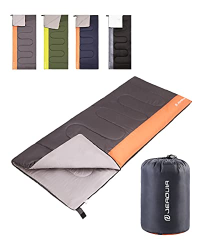 Sleeping Bag for Kids Adults Boys Girls Youth, Cold&Warm Weather, Backpacking Ultralight Lightweight Compact Waterproof for Camping Hiking - (Summer, Spring, Fall) - 50 Degree