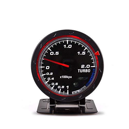 CENPEN Turbo-Ladedruckanzeige, 60 mm, 1 ~ 2 × 100 kPa, rote und weiße Hintergrundbeleuchtung