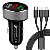 <span class='highlight'><span class='highlight'>GreatCool</span></span> Car Charger Quick Charge 3.0 Fast 12V Dual USB 30W Cigarette Lighter Adaptor QC with Voltage Monitor for iPhone XR XS Max X 8 iPad Air 2 Mini, Samsung Galaxy S10 S11, Huawei, LG, HTC, Sony