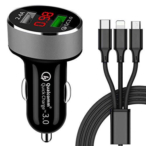 carica smartphone auto GreatCool Quick Charge 3.0 Caricabatteria per auto