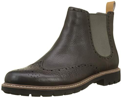 Clarks Herren Batcombe Top Chelsea Boots, Grau (Taupe Leather), 44 EU
