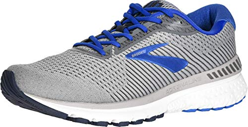 Brooks Men's Adrenaline GTS 20, Grey/Blue, 7 Medium