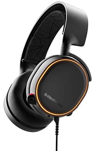 Oferta de SteelSeries Arctis 5 Auriculares De Juego, Iluminados Por Rgb, Dts Headphone:X V2.0 Surround Para PC, Playstation 5 Y PlayStation 4 - Negro