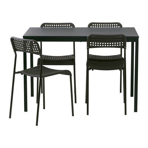 Ikea TARENDO/adde–Mesa y 4sillas, Negro–110cm