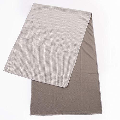 TAOtTAO_Sticker Handtuch Schnell Trocknendes Handtuch Kalt Sinn Handtuch Sport Kühltuch Cool EIS Seide Sport Eiskalt Handtuch 30 * 90cm Farbtaschen Grau