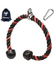 XYZDOUBLE Tricepsstouw touw nylon 70/90 cm biceps triceps touw fitness kabeltrekgreep met antislip dubbele handgreep voor workout fitness