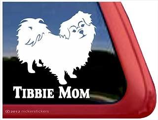Tibbie Mom ~ Tibetan Spaniel Vinyl Window Auto Decal Sticker